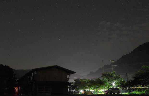 夜には、星空が満開の里山ながや・星野川。