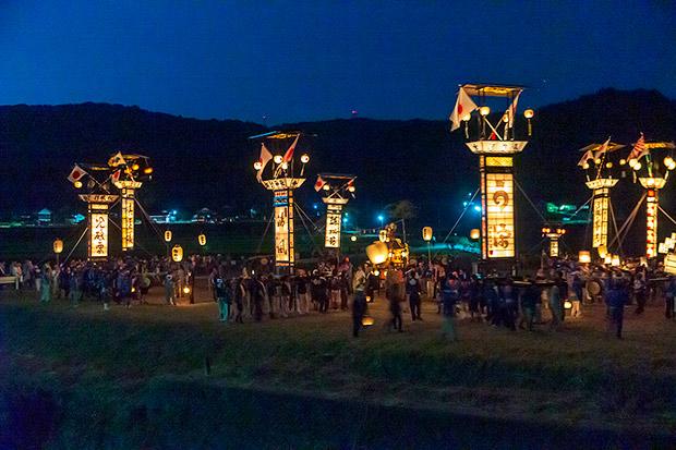 キリコ祭りの風景