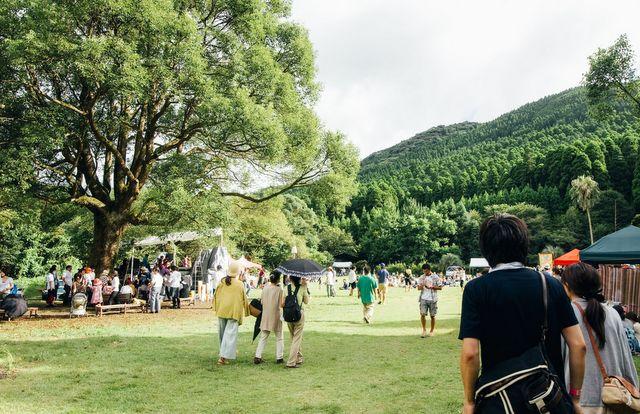 緑豊かな会場