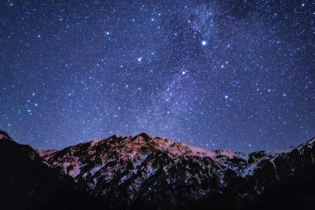 美しい白馬村の星空