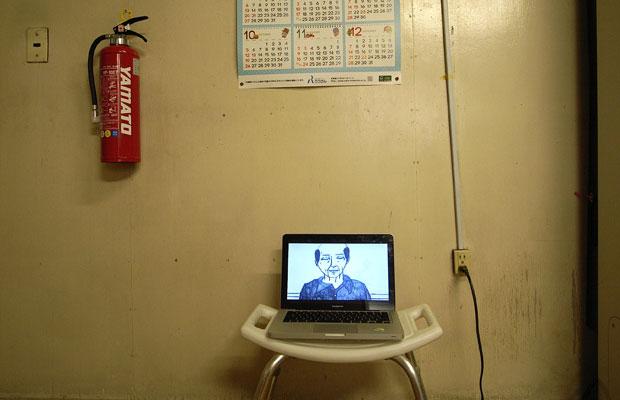 脱衣所に映像作品を設置。2013年に開催した。(写真提供:ニュー浴場プロジェクト)