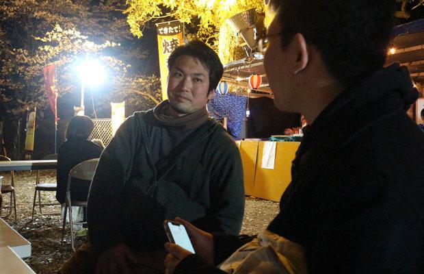 〈神川企画〉の若き代表、田中慎吾さん。