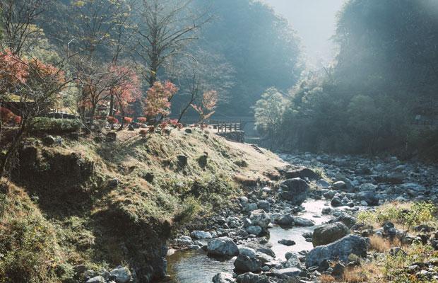 地域の中心を流れる川辺川。