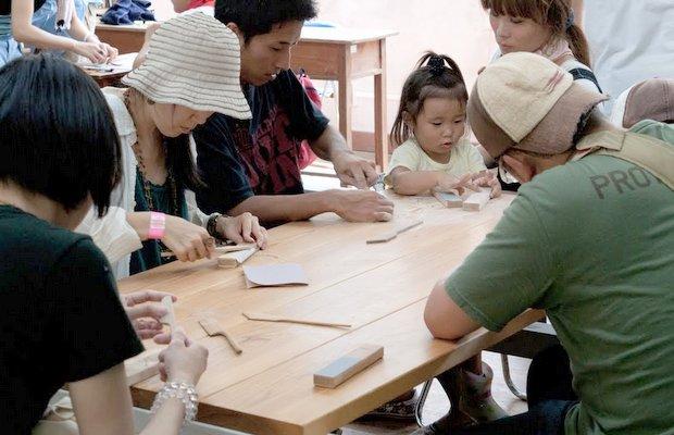 ワークショップがあれば家族や親子で参加しやすい。