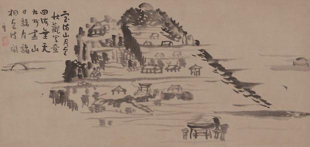 仙厓義梵筆 『宝満山図』
