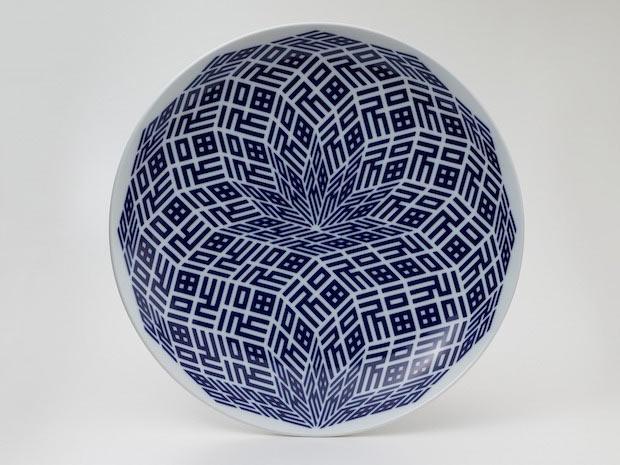 『福福紋様皿』