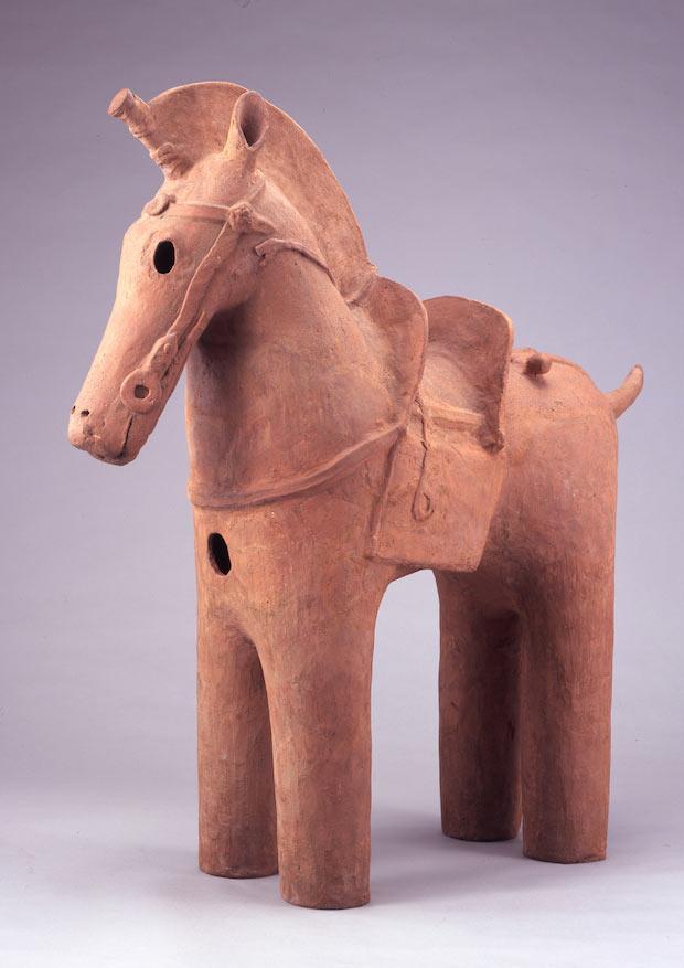 『埴輪 飾り馬』古墳時代 5~6世紀  岡田美術館蔵