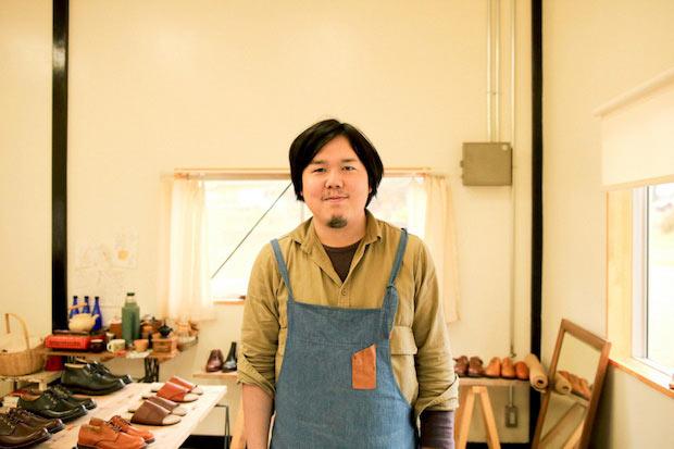 宿毛市へUターン移住した〈kino shoe works〉木下藤也さん。
