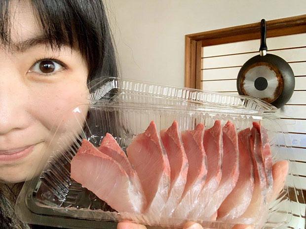 いただいた鮮魚のお刺身。