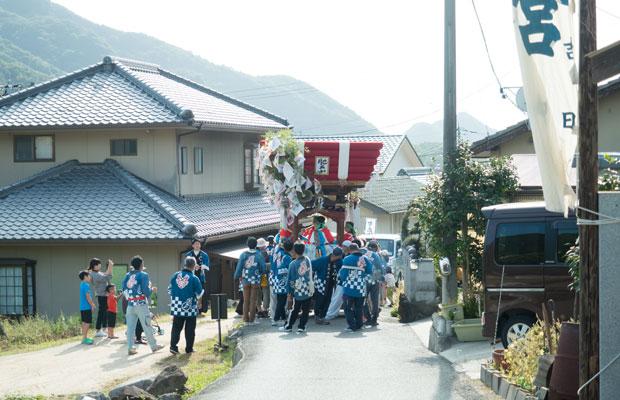 10月中旬、小豆島では各地で「太鼓まつり」が行われます。