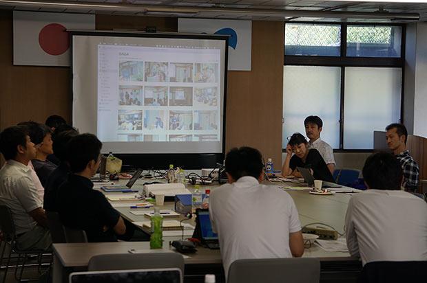 2019年6月、毎月のデザイン会議にて。長町さんはデザイン会議メンバー唯一の女性だ。