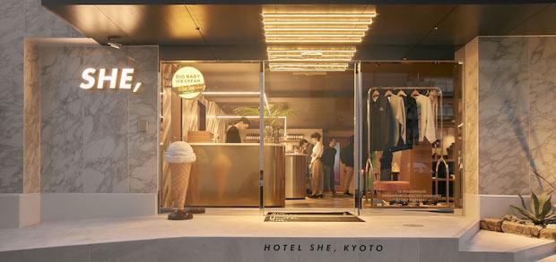 〈HOTEL SHE, KYOTO〉入り口