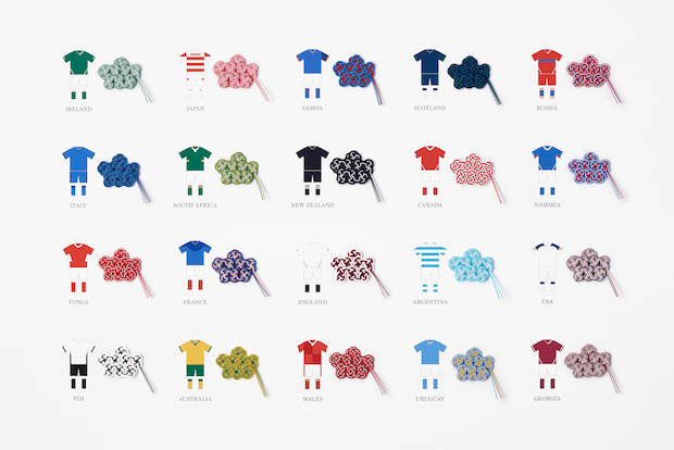 ワールドカップ各参加国の水引