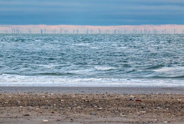 ヨーロッパでの洋上風車