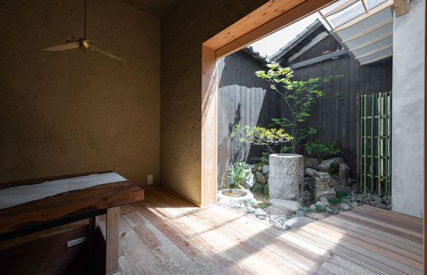 2.5メートル×3メートルに立体的な庭をつくる。(撮影:松村康平)