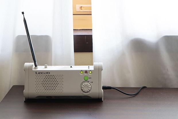 全戸配布されたラジオ機
