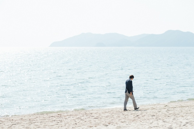 虹ヶ浜海岸で控えているイベントのプランを楽しそうに話してくれた。