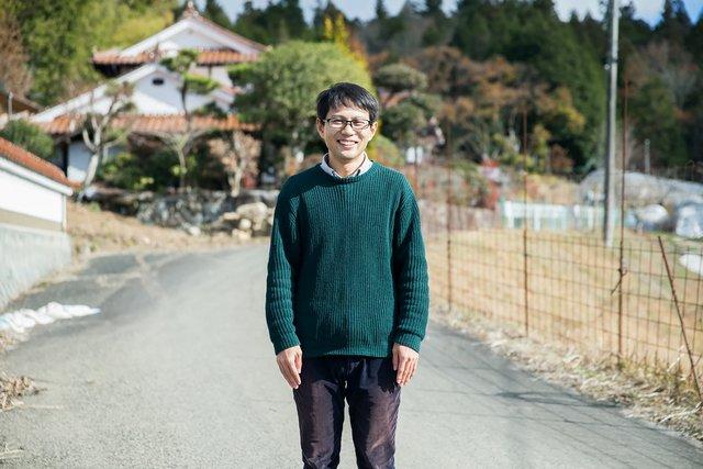 山田芳雅さん。大学生のときに〈ひとむすび〉を起業し、4年生のときにはもう地域おこし協力隊に就任していたという。