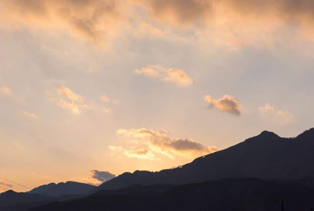 下田の夕日