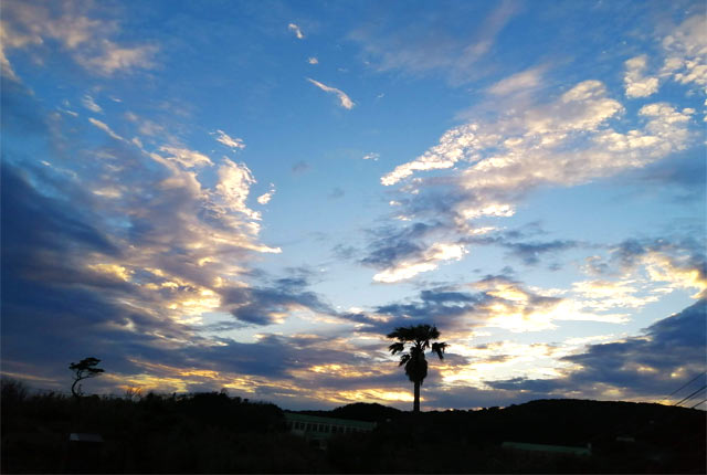 下田の夕焼け空