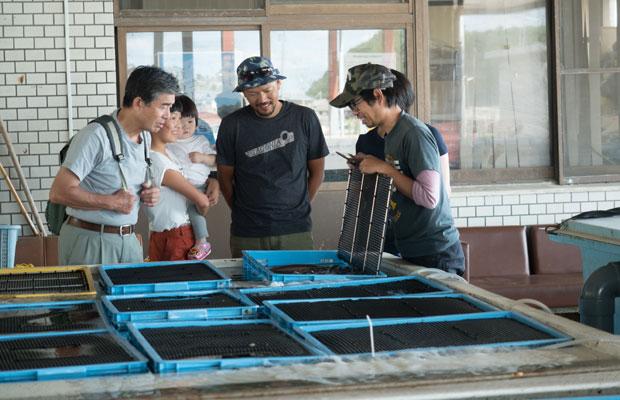 この日は偶然、四海漁協の田中くんがいて、ハモのことを話してくれました。