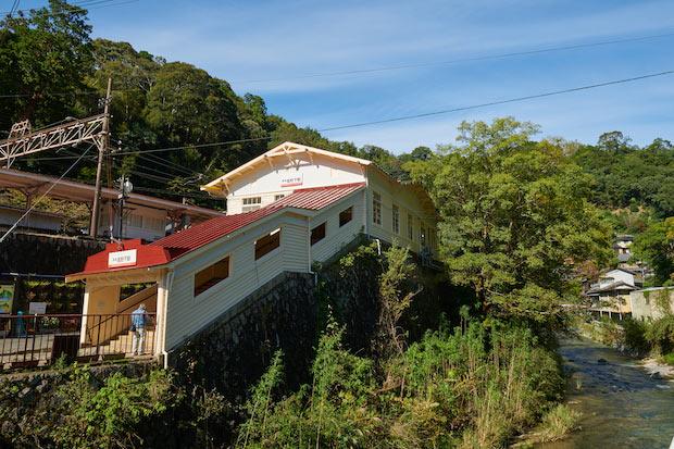 南海電気鉄道高野線の高野下駅外観。