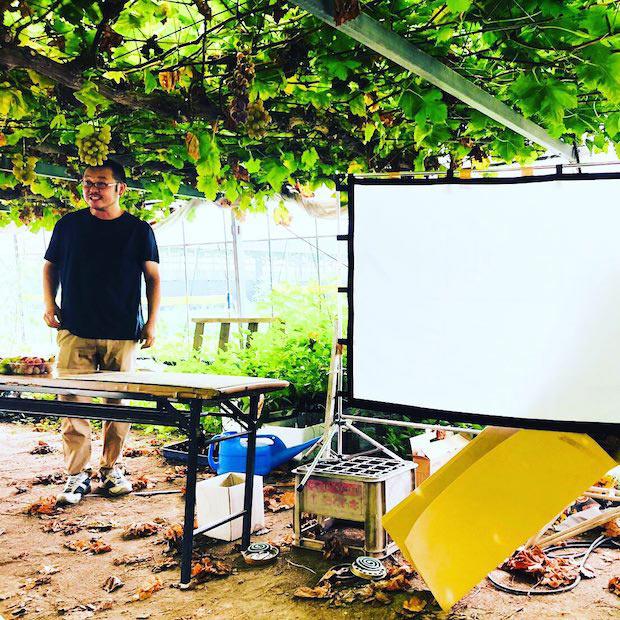 第1弾の〈林ぶどう研究所〉。クイズ形式で授業が受けられ、とても楽しい時間に。ちなみに、第2弾ではイチゴ農家さんを訪れたとのこと。