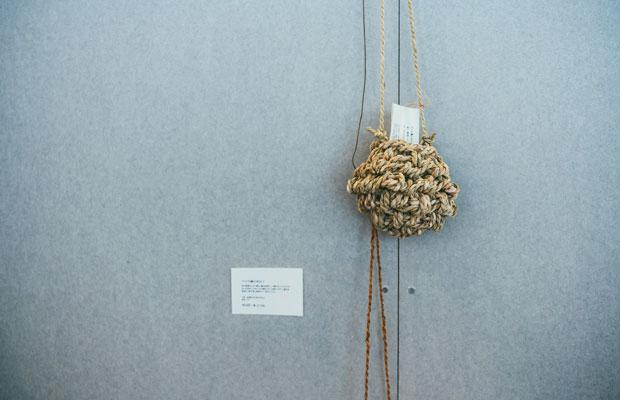 シナの縄の花かご。