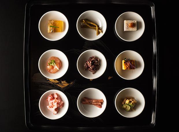 四季折々の魚沼の食材を用いた前菜たち