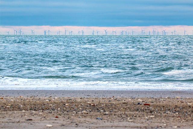 海上の風力発電用風車