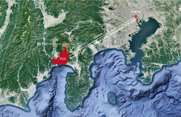 東京・富士地図