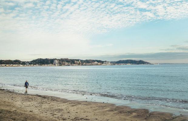 稲村ヶ崎の海岸