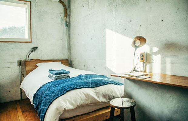 全部で6室ある部屋は、シングルのひと部屋以外は同サイズだが、ダブルベッド、ツインベッド、ロフト付きなどタイプは異なり、それぞれ2名まで宿泊できる。