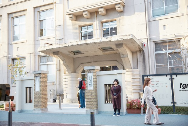 〈Fukuoka Growth Next〉は福岡市・大名の一等地にある。シェアオフィスやコワーキング施設も併設。