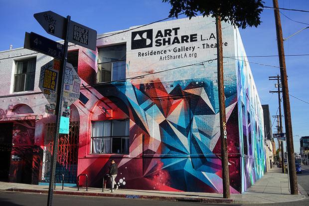 ロスのアートディレクトリクトにある「ART SHARE L.A.」ではアーティストの展示やパフォーマンスのための環境、プログラムやコミュニティが充実している。