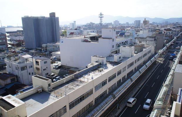 富士市の中心市街地の吉原商店街