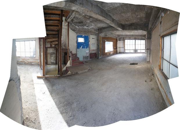 内装の解体が終わりスケルトン状態の3階。