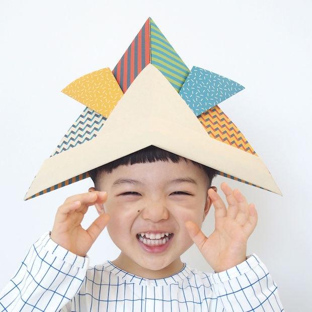 ポップで楽しいパターンを組み合わせた〈KABUTO Pop〉は子どもも喜びそう。