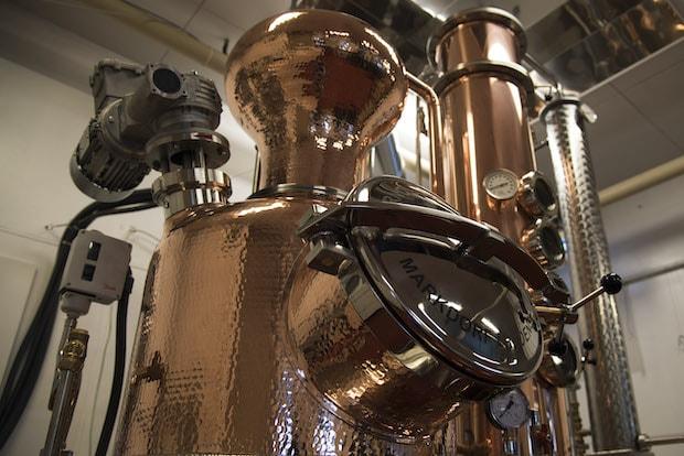 2017年にドイツからやってきた蒸留器。