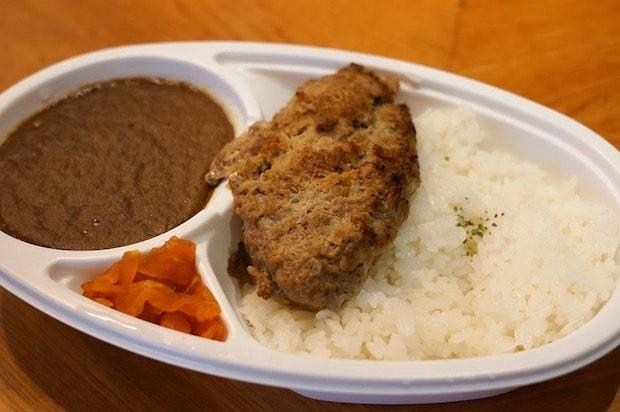 レストランパリの朝市 洋食屋のハンバーグカレー 650円