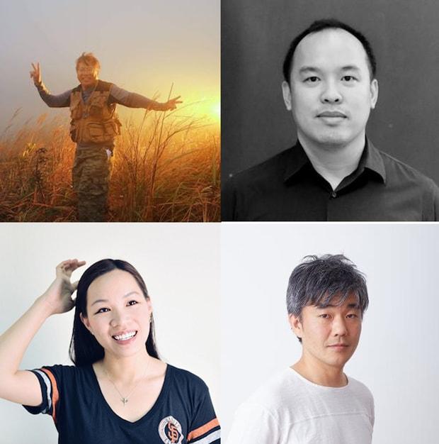 審査員の皆さん。左上から時計回りに、Dr. Kenneth Kwong Si-san/鄺士山博士、グラフィックデザイナー兼宇宙開発ディレクターのPichit Virankabutraさん、プロダクトデザイナーの大村卓さん、Pinkoi共同創設者/CPOの林怡君さん。