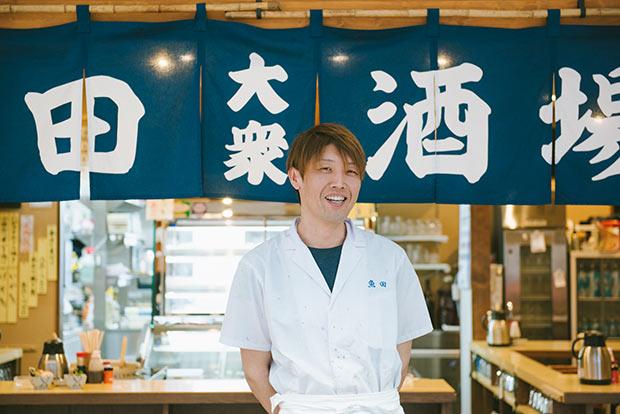開店から店長を務める歌川陽行さん。「ありきたりではない旬の魚を出していきたいんです」と語ります。