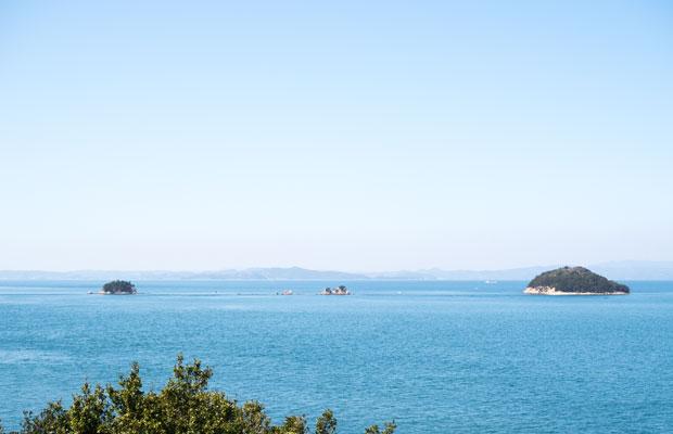 小豆島から眺める瀬戸内海。いつもどおりの美しい風景。