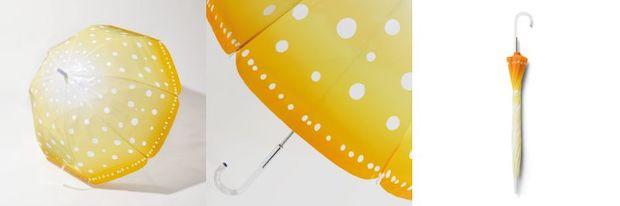 雨空を泳ぐ タコクラゲの傘
