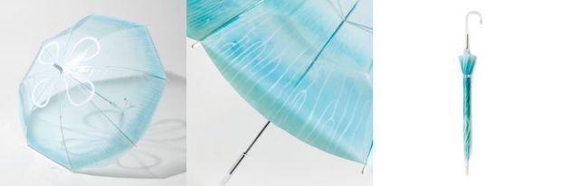 雨空を泳ぐ ミズクラゲの傘