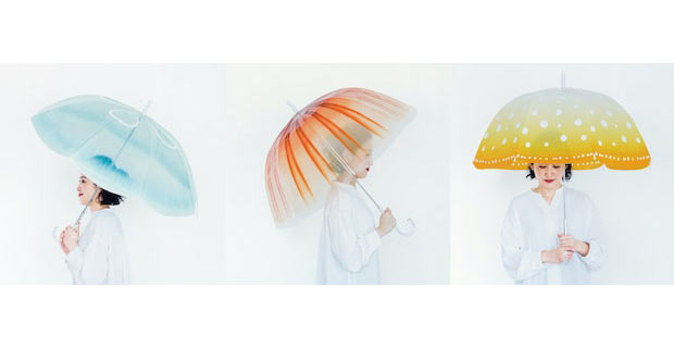世界一のクラゲ水族館とフェリシモの〈YOU+MORE!〉3種のクラゲをモチーフにした幻想的な傘