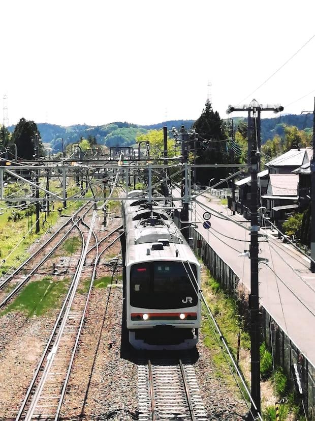 さぁ、片岡駅を出発!
