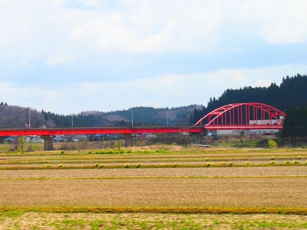 黄と赤と青の信号のようコントラストが桃源郷への扉です。