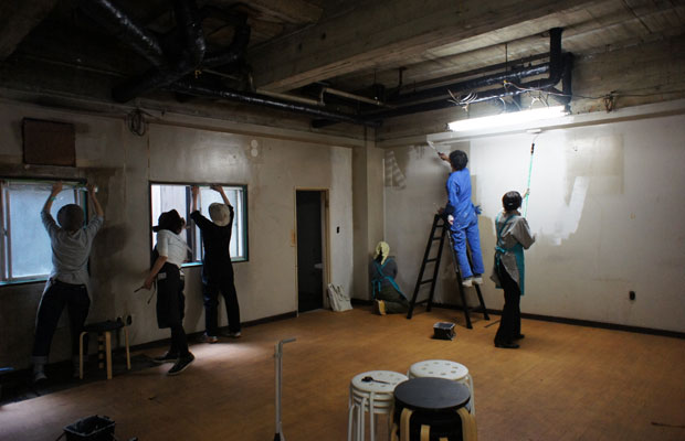 2015年10月に開催したDIY塗装ワークショップ。