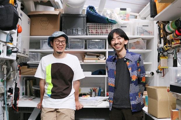 左から〈kumagusuku〉代表の矢津吉隆さん、〈副産物産店〉共同代表の山田 毅さん。